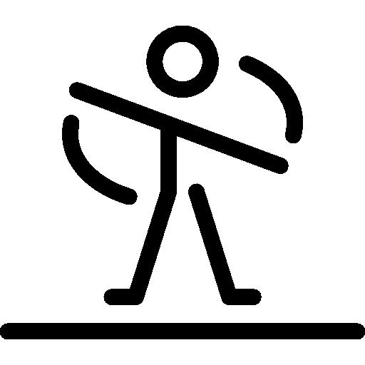 Twisting arms pilates icon